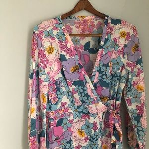 Other - 1970s Retro Floral Nightgown and Robe EUC